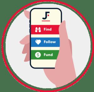 find follow fund@2x